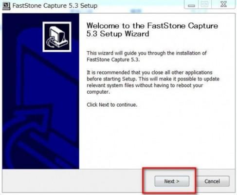 2014 12 17 000839 487x400 FastStone Captureのインストール方法と日本語化、操作方法について丁寧に